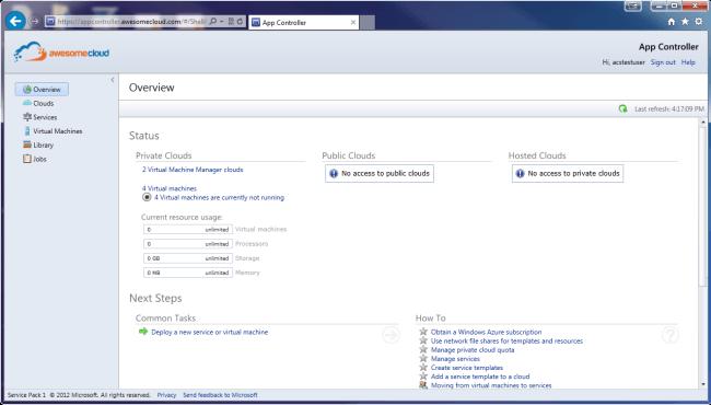 APP Controller Overview Screen