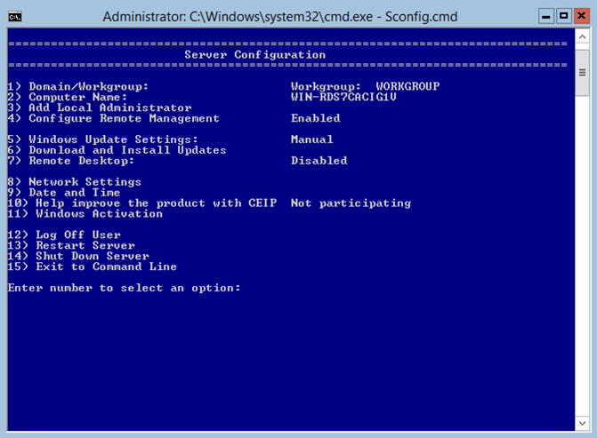 Windows Server 2012 Server Core